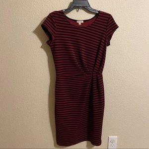 🆕 Gilli Maroon & Black Striped Dress